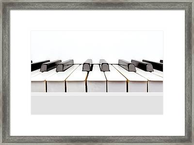 Vintage White Piano Framed Print by Kitty Ellis