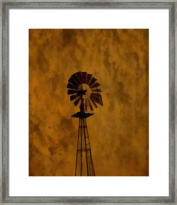 Vintage Windmill  Framed Print by Dan Sproul
