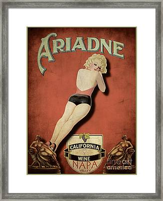 Vintage Wine Ad II Framed Print by Cinema Photography