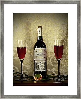 Vintage Wine Lovers Framed Print by Inspired Nature Photography Fine Art Photography