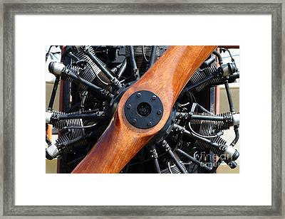 Vintage Wood Propeller - 7d15828 Framed Print by Wingsdomain Art and Photography
