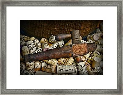 Vintage Wooden Barrel Tap Framed Print by Paul Ward