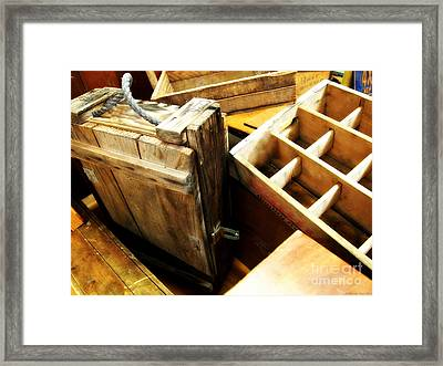 Vintage Wooden Boxes Framed Print