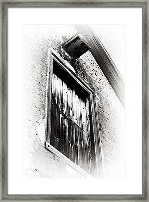 Vintage Wooden Window Framed Print by John Rizzuto