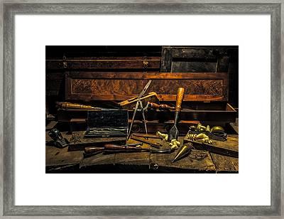 Vintage Woodworking Tools Framed Print
