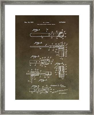 Vintage Wrench Patent Framed Print by Dan Sproul