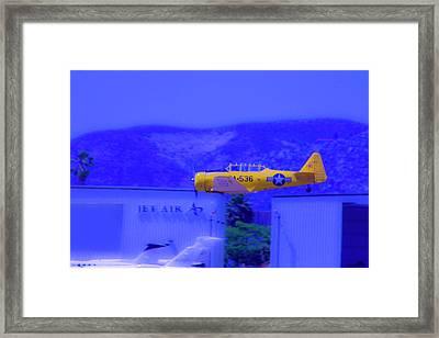 Vintage Yellow Airplane Framed Print