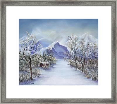 Vinter Fjell Framed Print by Andrea Rosa