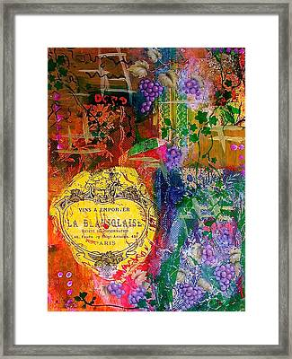 Vintner Label Framed Print by Bellesouth Studio