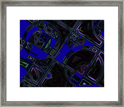 Vinyl Blues Framed Print by Judi Suni Hall