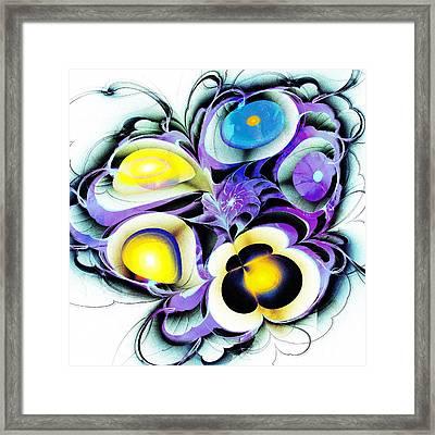 Viola Tricolor Framed Print by Anastasiya Malakhova