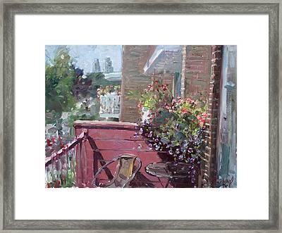 Viola's Balcony Framed Print by Ylli Haruni