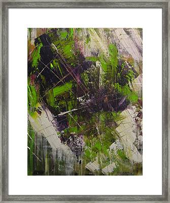 Framed Print featuring the painting Violation by Lucy Matta