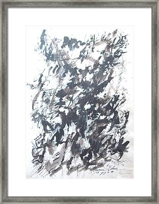 Framed Print featuring the painting Violence by Esther Newman-Cohen