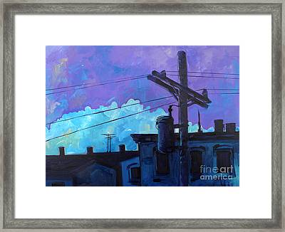 Violet And Purple Give Me The Blues Framed Print by Michael Ciccotello