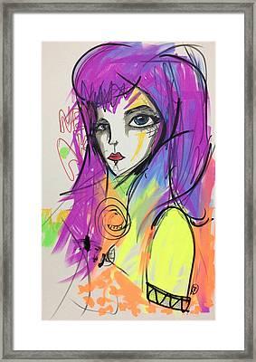 Violet Autumn Framed Print