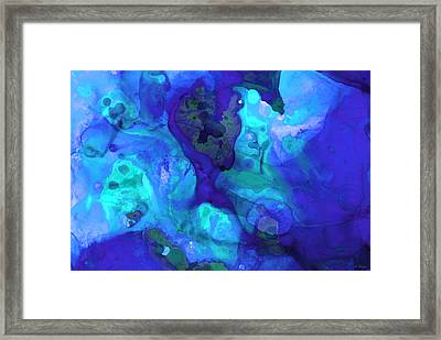 Violet Blue - Abstract Art By Sharon Cummings Framed Print