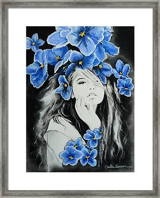 Violet Framed Print by Carla Carson