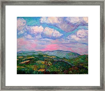 Violet Evening On Rocky Knob Framed Print by Kendall Kessler