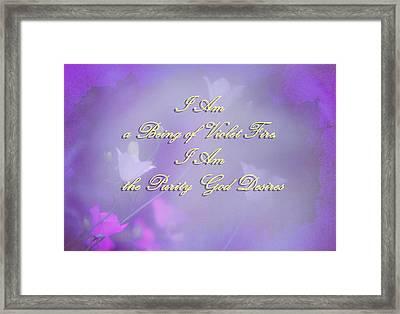 Violet Flame Mantra Framed Print