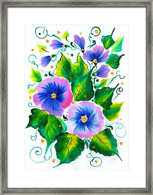 Violet Flowers Framed Print