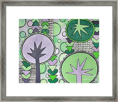Violet-green Framed Print by Home Art
