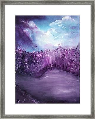 Violet Horizon Framed Print