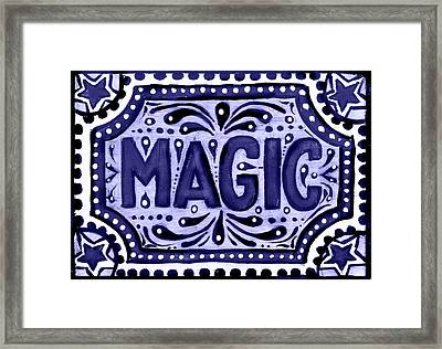 Violet Magic  Framed Print