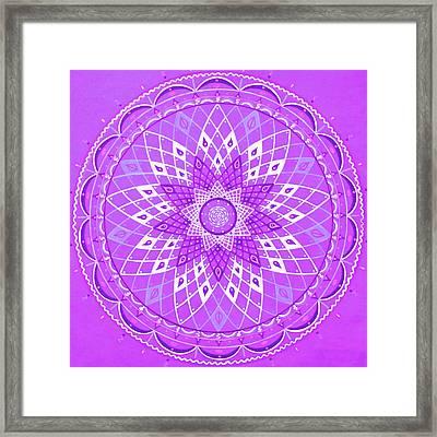 Violet Mandala Framed Print by Vlatka Kelc