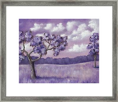 Violet Mood Framed Print