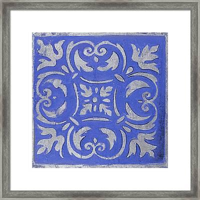 Violet Mosaic Framed Print