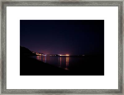 Violet Night Framed Print by Andrea Mazzocchetti