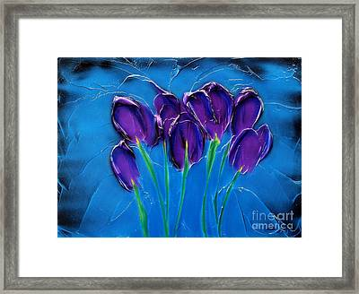Violet Posy Framed Print by Kenneth Clarke