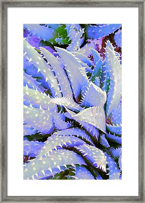 Framed Print featuring the digital art Violet by Suzanne Silvir