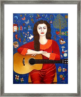 Violeta Parra And The Song Thanks To Life Framed Print