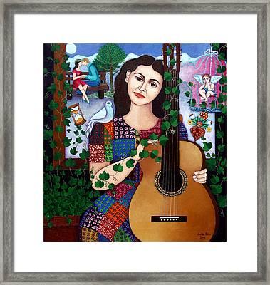 Violeta Parra Back At Seventeen   Framed Print