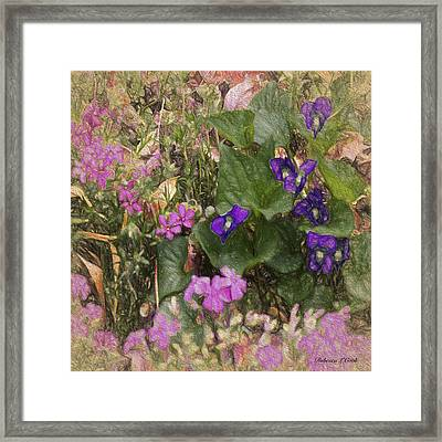 Violets And Thrift Framed Print by Bellesouth Studio