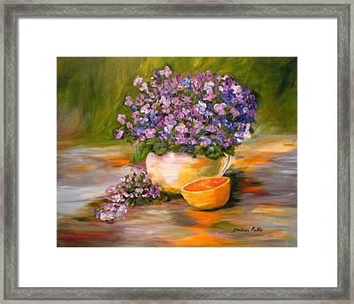 Violets Are Blue Framed Print by Barbara Pirkle