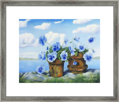 Violets On The Beach Framed Print by Veikko Suikkanen