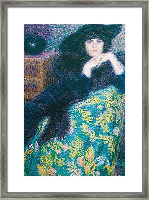 Violette Framed Print by Enrico della Leonessa