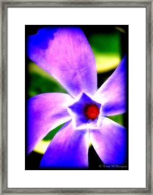 Violetti Framed Print by Terri K Designs