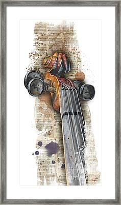 Violin 01 Elena Yakubovich Framed Print