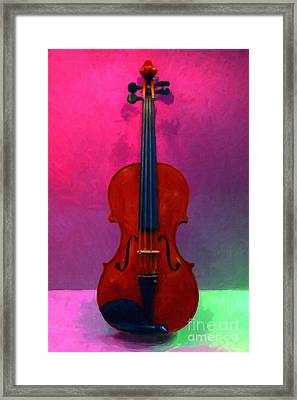Violin - 20130111 V1 Framed Print by Wingsdomain Art and Photography
