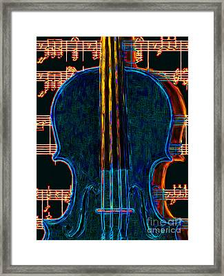 Violin - 20130128 Framed Print by Wingsdomain Art and Photography