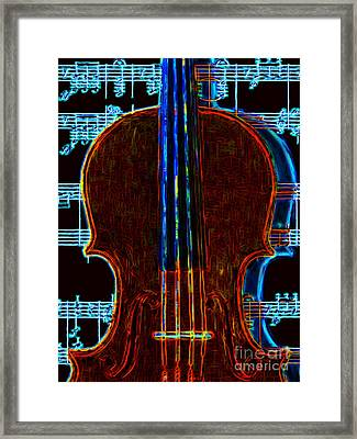 Violin - 20130128v1 Framed Print by Wingsdomain Art and Photography