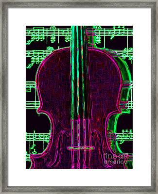 Violin - 20130128v2 Framed Print by Wingsdomain Art and Photography