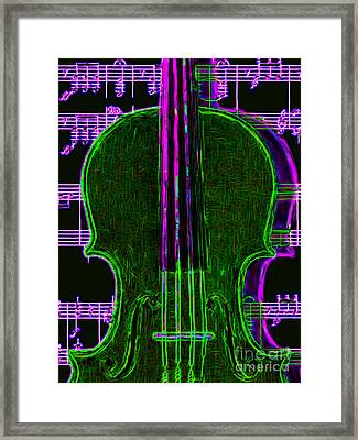 Violin - 20130128v4 Framed Print by Wingsdomain Art and Photography