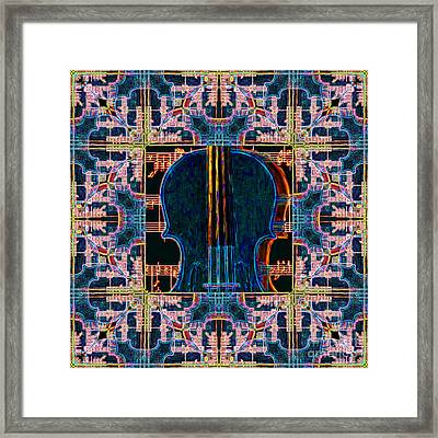 Violin Abstract Window - 20130128v1 Framed Print by Wingsdomain Art and Photography