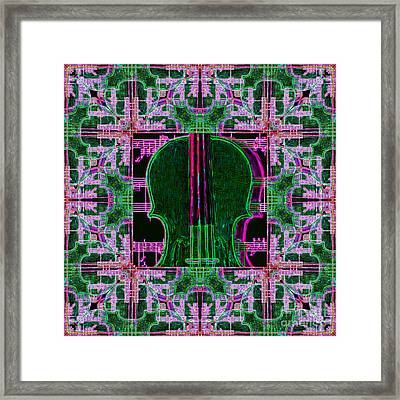 Violin Abstract Window - 20130128v2 Framed Print by Wingsdomain Art and Photography