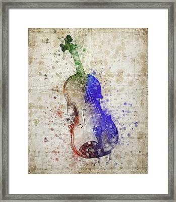 Violin Framed Print by Aged Pixel